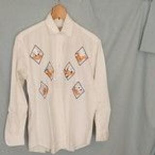 ディズニー(Disney)のディズニーワイシャツ ドナルドダック イタリー製 中古 Mサイズ(シャツ/ブラウス(長袖/七分))