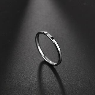 2㎜リング ステンレスリング ステンレス指輪 ピンキー シルバー(リング(指輪))