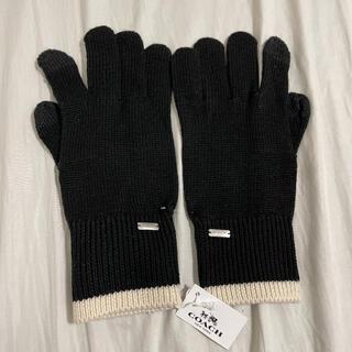コーチ(COACH)のコーチ 手袋 COACH コロブロック ニット テック グローブ(手袋)