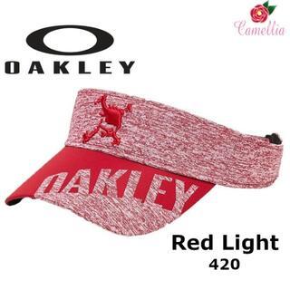 オークリー(Oakley)の新品 OAKLEY オークリー スカル ハイブリッドバイザー RED(サンバイザー)