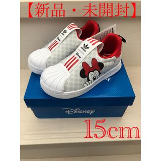 アディダス(adidas)の【新品・未開封】adidas キッズスニーカー ディズニー ミニーマウス15cm(スリッポン)