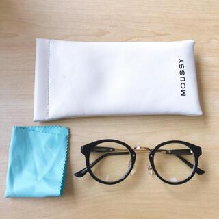 マウジー(moussy)の伊達眼鏡 メガネ めがね 黒 moussy(サングラス/メガネ)