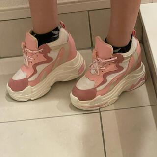ヒール10cm厚底靴(スニーカー)