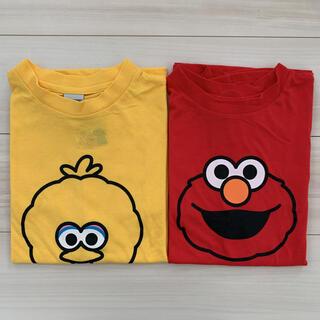 セサミストリート(SESAME STREET)のセサミストリート エルモ ビッグバード Tシャツ 2枚セット レディース メンズ(Tシャツ(半袖/袖なし))