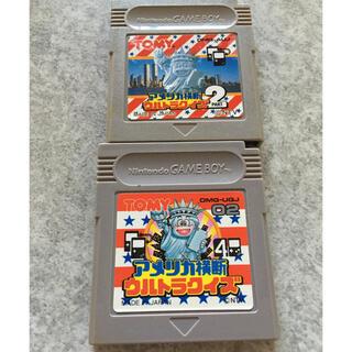ゲームボーイ(ゲームボーイ)のゲームボーイソフト アメリカ横断ウルトラクイズ セット G43(家庭用ゲームソフト)