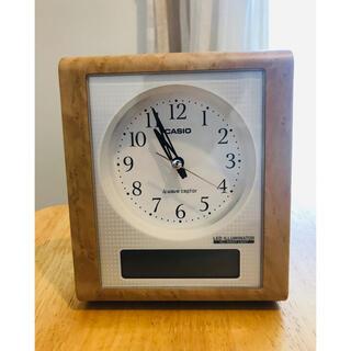 カシオ(CASIO)のCASIO 置き時計 TQT-351NJ(電波時計、温度、湿度他)(置時計)