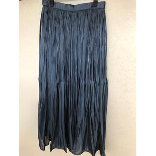 エニィファム(anyFAM)のタグ付きany FAM サテンギャザースカート サイズ3(ロングスカート)