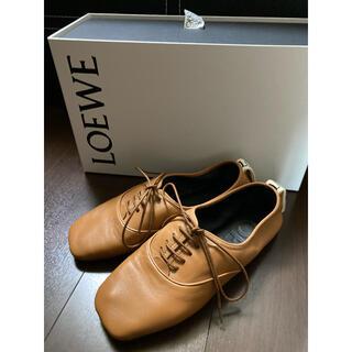 ロエベ(LOEWE)のloeweダービーシューズ36バレエパンプスロエベgucci celine (ローファー/革靴)