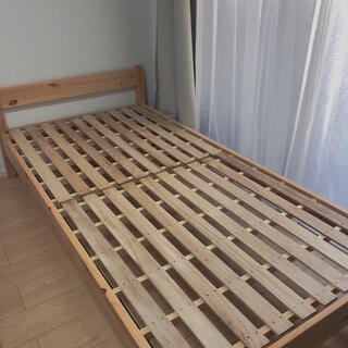 ムジルシリョウヒン(MUJI (無印良品))の無印良品 シングルベッド パイン剤(シングルベッド)