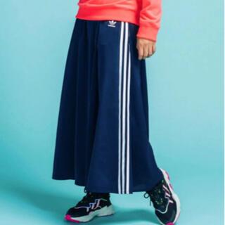 アディダス(adidas)の【新品】addidas originals ロングスカート ネイビー XS(ロングスカート)