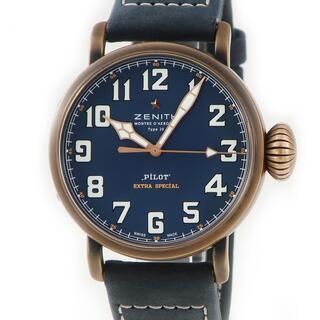 ゼニス(ZENITH)のゼニス  パイロット タイプ20 エクストラ スペシャル ブルー 29.(腕時計(アナログ))