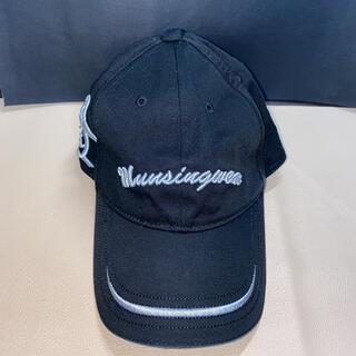 マンシングウェア(Munsingwear)のマンシングウェア  ブラックゴルフキャップ(キャップ)