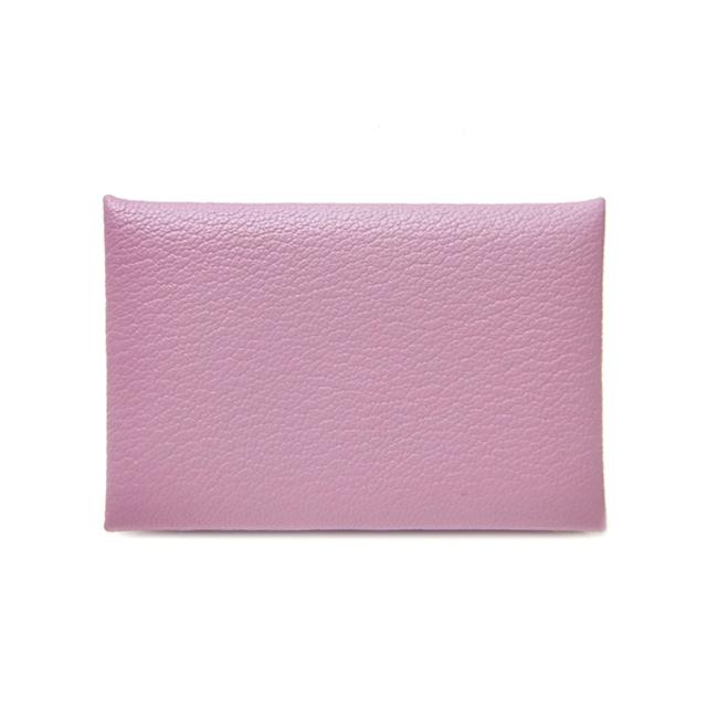 Hermes(エルメス)のエルメス  カードケース  カルヴィ  D刻印 ピンク レディースのファッション小物(名刺入れ/定期入れ)の商品写真