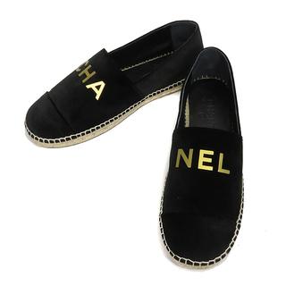 シャネル(CHANEL)のシャネル  靴  エスパドリーユ フラットシューズ ロゴ スリッポン G(スリッポン/モカシン)
