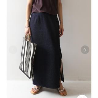 フレームワーク(FRAMeWORK)のネップデニム サイドジップスカート(ロングスカート)