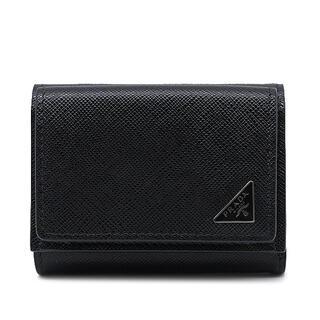 PRADA - プラダ  三つ折り財布  サフィアーノ 三角プレート 2MH021  ブ