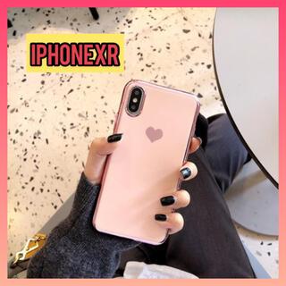 【特価】iPhoneXR アイフォンケース ハート柄 シンプルケース ピンク(iPhoneケース)