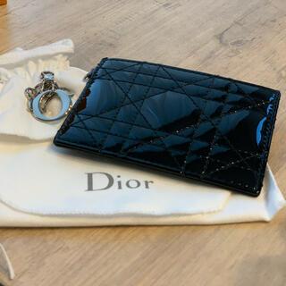 クリスチャンディオール(Christian Dior)のレディディオールフラットカードホルダー 正規品(名刺入れ/定期入れ)