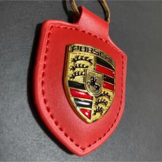 Porsche - 【新品未使用】ポルシェ カラークレスト キーホルダー レッド