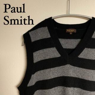 Paul Smith - 【美品】Paul Smith ポールスミス カシミヤ混 ベスト ニット Lサイズ