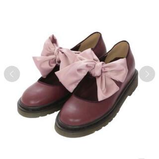 メリージェニー(merry jenny)のmerry jenny サテンリボンフラットシューズ(ローファー/革靴)