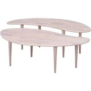 センターテーブル COFFEE ホワイトウォッシュ(ローテーブル)