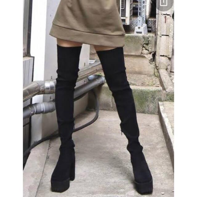 EMODA(エモダ)のEMODA ニーハイブーツ タンクロングブーツ レディースの靴/シューズ(ブーツ)の商品写真