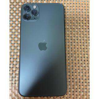 アイフォーン(iPhone)のiPhone 11 Pro Max 64Gb Green Simフリー美品(スマートフォン本体)