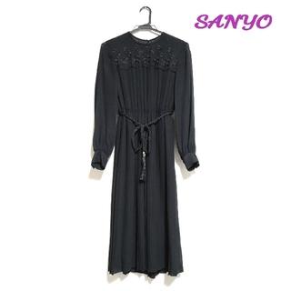 サンヨー(SANYO)のSanyo ブラックフォーマル プリーツワンピース(礼服/喪服)