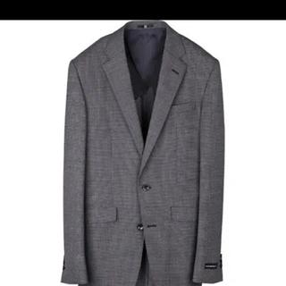 峰様専用 スーツセレクト AB5 2釦シングルスーツ 0タック/グレー&ブラック(スラックス/スーツパンツ)