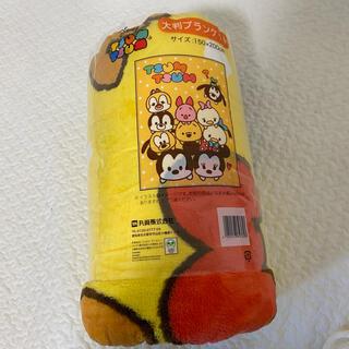 ディズニー(Disney)のディズニー ツムツム 大判ブランケット 毛布(毛布)