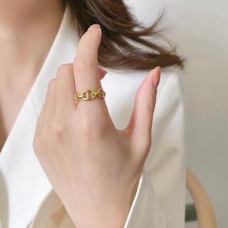 ドゥーズィエムクラス(DEUXIEME CLASSE)のchaine d'ancre open ring ◯18k coating(リング(指輪))