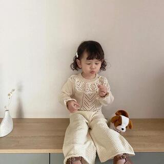 キャラメルベビー&チャイルド(Caramel baby&child )の新品未使用 ベビー キッズ ニット セーター 80 90 100 女の子(ニット)