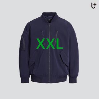 ジルサンダー(Jil Sander)の新品未開封 ユニクロ ジルサンダー オーバーサイズブルゾン ネイビー XXL(ダウンジャケット)