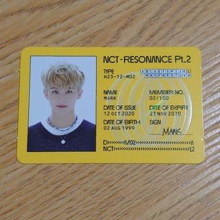 マーク NCT RESONANCE Pt.2 Departure IDカード(K-POP/アジア)