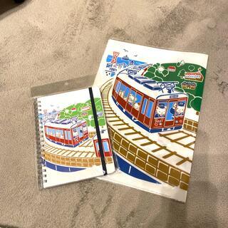ファミリア(familiar)のfamiliar 阪急電車 コラボ ファミリア ノート クリアファイル(ノート/メモ帳/ふせん)
