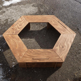ヘキサゴンテーブル ウォールナット(アウトドアテーブル)