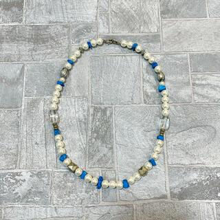 ジエダ(Jieda)のパールネックレス ヴィンテージ  ターコイズ 真珠 パール 90s (ネックレス)