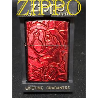 ジッポー(ZIPPO)のZIPPO ジッポー レッドローズ バラの花(タバコグッズ)