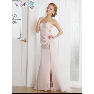 エンジェルアール(AngelR)のAngelR スリット入り カットオフ ロングドレス ピンク(ロングドレス)