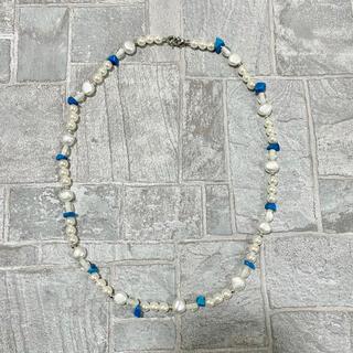 ジエダ(Jieda)の淡水パール パールネックレス ヴィンテージ  ターコイズ 真珠 パール 90s (ネックレス)