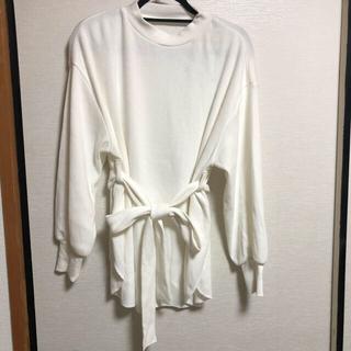 ムルーア(MURUA)のムルーア 新品 ワッフルウエストリボンベルトトップス(Tシャツ(長袖/七分))