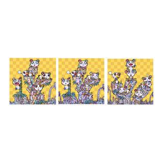 3種セット!村上隆 パンダ ポスター ED300 カイカイキキ お花(版画)