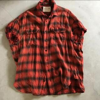 アールサーティーン(R13)のR 13 オーバーサイズシャツ fear of god サンローラン fog(シャツ)