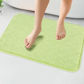 バスマット 吸水速乾 風呂マット ふんわり  直立わた足ふきマット グリーン(バスマット)