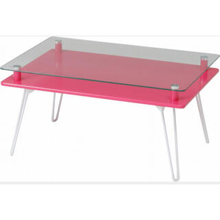 ディスプレイテーブル クラリス ピンク(ローテーブル)