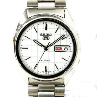 セイコー(SEIKO)のセイコー 腕時計新品同様  5(ファイブ) 白(その他)
