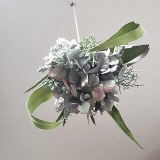 ドライフラワー 紫陽花とユーカリのフライングブーケ(ドライフラワー)