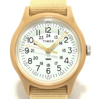 タイメックス(TIMEX)のタイメックス 腕時計美品  - SR626SW 白(腕時計)