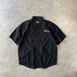 ハーレーダビッドソン(Harley Davidson)のHarley-Davidson  shirt 半袖シャツ 刺繍 バックロゴ 黒(シャツ)